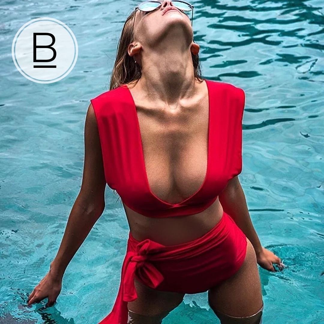 раздельные купальники на большую грудь